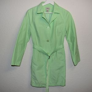 Duck Head light weight trenchcoat green belted